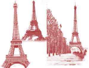 法国铁塔Photoshop笔刷