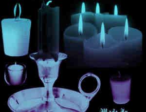 烛灯、蜡烛盘、蜡烛灯Photoshop笔刷素材
