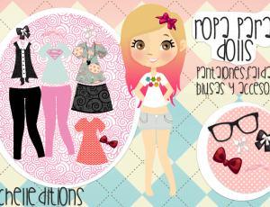 超级可爱小女孩眼镜、衣服、蝴蝶结素材【美图秀秀笔刷包】