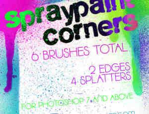 飞溅的油漆、喷漆Photoshop笔刷素材