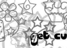 可爱幼稚的童趣涂鸦Photoshop笔刷素材