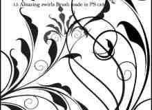 典雅植物艺术花纹图案Photoshop笔刷