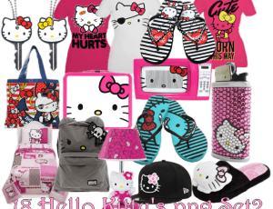 已扣!Hello Kitty衣帽服饰装扮PNG素材