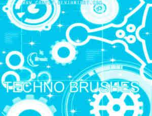 数码齿轮科技装饰素材Photoshop笔刷下载