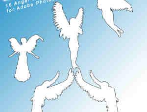 天使女孩PS自定义形状素材