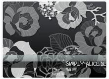 漂亮的植物花纹照片美图背景边框饰品PS笔刷 #.16