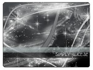 梦幻星星飘带照片美图背景PS笔刷素材