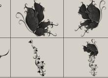 超美!梦幻艺术蝴蝶造型Photoshop美图笔刷
