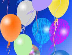 七彩气球生日照片美化素材