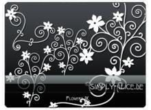 漂亮的植物花纹照片美图背景边框饰品PS笔刷 #.6