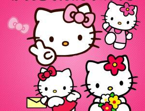 Hello Kitty可爱猫咪卡通素材下载