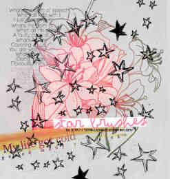 绘五角星、星星涂鸦Photoshop笔刷素材-涂鸦笔刷 第 11 页