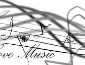 涂鸦音符、音乐元素Photoshop笔刷素材