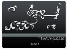 手绘线条优雅植物枝条花纹PS笔刷美图素材 #.4