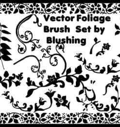 植物花纹照片背景图案装饰PS笔刷素材-装饰笔刷 第 39 页图片