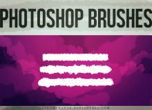 简单水彩涂抹笔触Photoshop笔刷下载