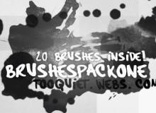 21种水墨滴溅痕迹Photoshop笔刷