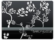 漂亮的植物花纹照片美图背景边框饰品PS笔刷 #.8