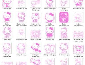 超级呆萌秀!Hello Kitty照片装饰素材下载