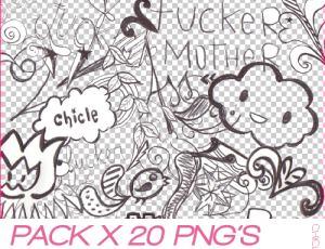 20个呆萌童趣手绘可爱图形美图素材