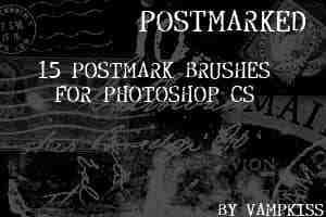 古欧洲邮戳、文字Photoshop笔刷
