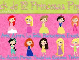 可爱的小公主卡通女孩美图素材下载