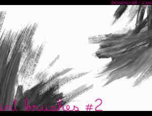 简单的刷子图案、划痕Photoshop笔刷素材 #.2