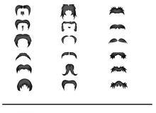 18种小清新卡通黑色大胡子Photoshop美图笔刷