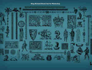 古罗马人物图案花纹PS笔刷