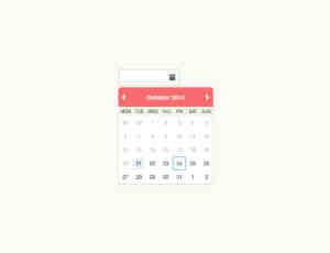 一个小清新风格Web用日历UI素材下载