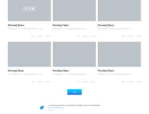 简洁照片主题Web模板PSD素材文件下载