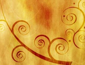 漂亮的漩涡植物花纹图案Photoshop笔刷