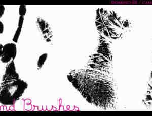 掌纹、指纹、手印Photoshop笔刷素材