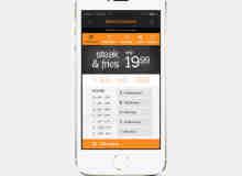一个订菜手机Apps应用程序UI素材PSD下载
