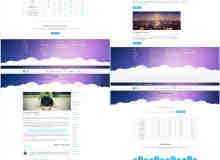 一套完整的小清新企业web页面PSD源文件素材
