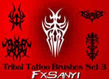 部落纹饰图案、非主流纹身Photoshop笔刷 #.3