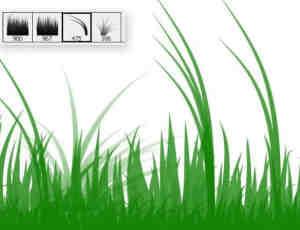 简单小草、青草、草地、草丛Photoshop笔刷