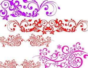 秀丽的贵族花纹图案Photoshop印花笔刷