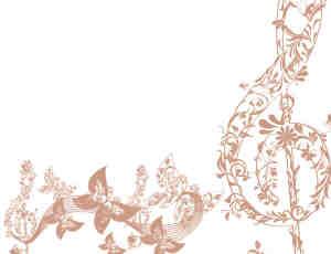 漂亮的植物花纹音符图案Photoshop笔刷下载