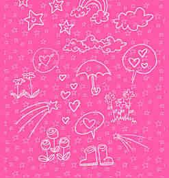 卡哇伊童趣手绘涂鸦Photoshop美图素材笔刷-海量PS笔刷素材 第 194