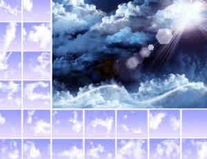 各种高空云朵素材Photoshop笔刷下载