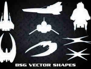 高科技宇宙战舰photoshop自定义形状素材 .csh 下载