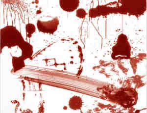 真实血流痕迹、血液涂抹PS笔刷