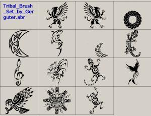纹饰图腾、圣神纹身图案Photoshop装饰笔刷