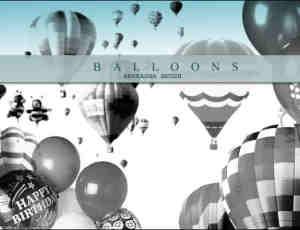 热气球Photoshop笔刷
