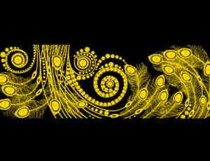 孔雀羽毛式花纹图案Photoshop笔刷素材
