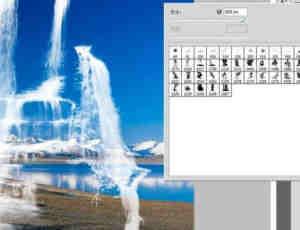 高清瀑布流水Photoshop笔刷素材
