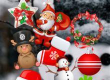 已扣图!60个圣诞节照片装饰美图秀秀素材包下载