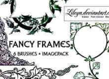 古典贵族艺术花纹边框Photoshop笔刷下载