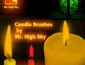蜡烛、烛光、烛火Photoshop笔刷下载 #.2